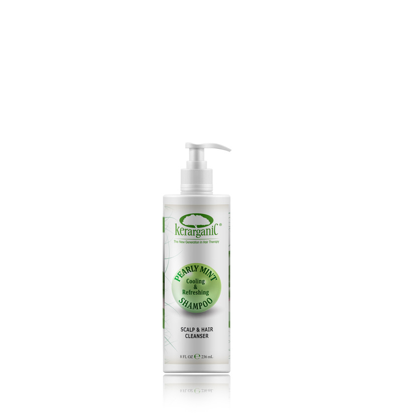 PEARLY MINT SHAMPOO - SCALP AND HAIR CLEANSER - 8oz/236ml